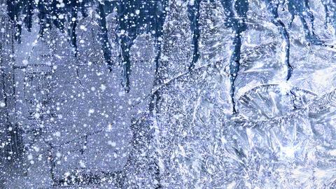 Winter Background Window Frost - 4K stock footage