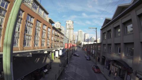 aerial - Yaletown Vancouver on mainland street 3 Footage