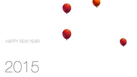 New Year Balloons stock footage