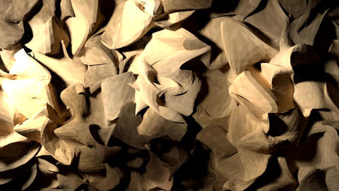 Abstract wood shavings paper cloth pulsating backg Animation