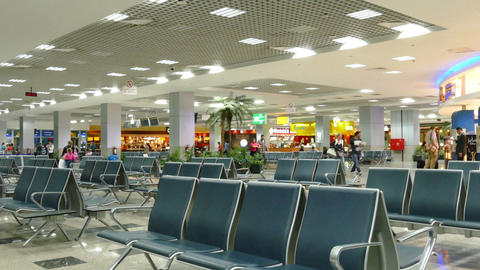 Waiting lounge in international airport of Hurghad Footage