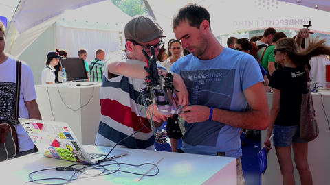 Electronic prosthetic arm Footage