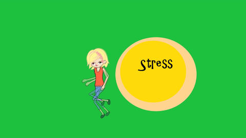 """""""Running from Stress"""", female Character: Looping + Animation"""