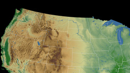 Montana State USA Extruded Physical Map Stock Animation - Montana state usa map