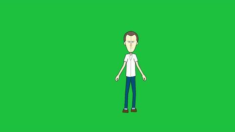Splitting the Cartoon Man Animation