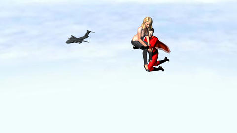 Super Hero in Love Animation