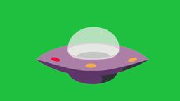 Blinking UFO: Green Screen + Looping Animation