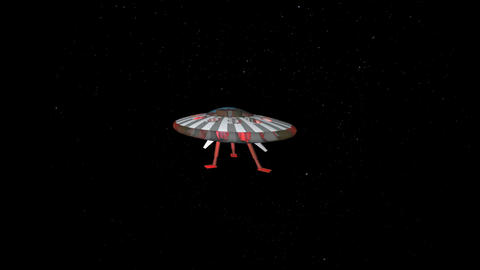UFO In Space: Looping stock footage