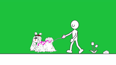 Walking Dog (Minimalist Animation): Loop + Matte Animation