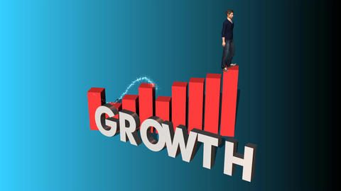 "Walking up Chart of Success: ""Growth"" Edition GIF"