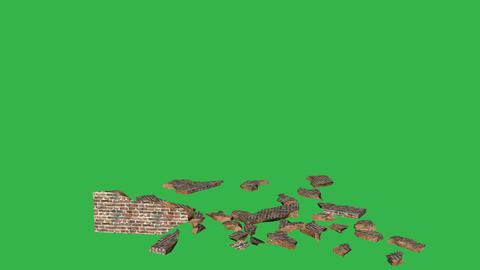 Tumbling Wall Animation (Version #1 ) + Matte Animation