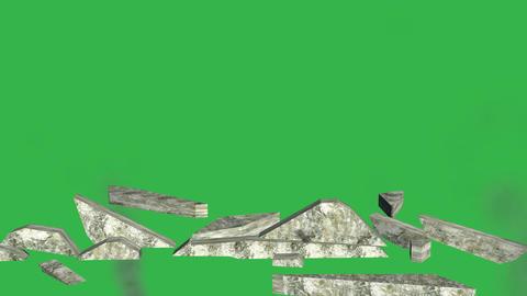 Tumbling Wall Animation (Version #3 ) + Matte Animation