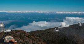 4k Time Lapse, La Palma, Observatories Footage