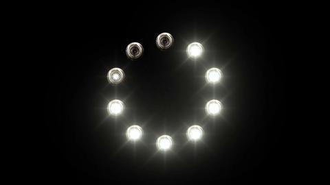 light loading bar - 30fps - radial, blue lights sh Animation