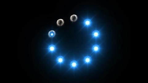 light loading bar - 30fps - radial, white lights s Animation