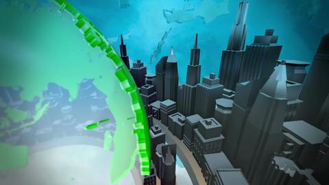 Broadcast earth globe animation Animation
