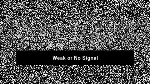 TV noise. Weak or no signal Live Action