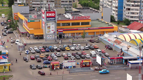 Supermarket. View From Above stock footage
