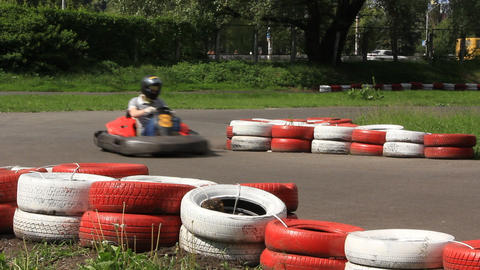 Karting Track stock footage