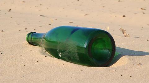 Green bottle Footage