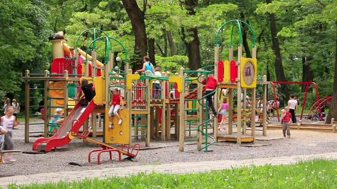 New childrens playground Footage