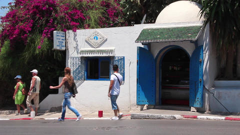 Tunisian town - Sidi Bou Said Live Action