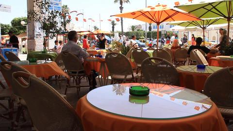 Summer cafe Footage