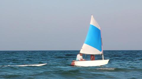 Little sailing vessel Footage