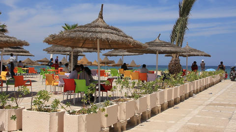 Summer cafe in Tunisia Live Action
