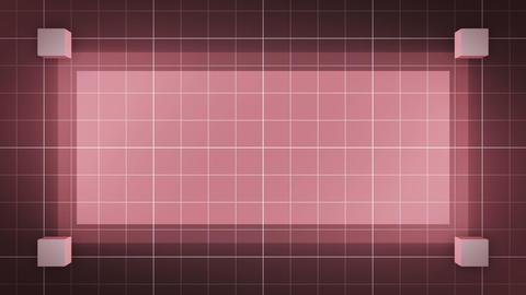 moving 3D cubes, loop BG, red CG動画