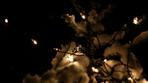 Hanging Outdoor Christmas Lights stock footage