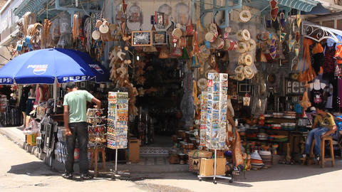 Marketplace in medina, Tunisia, Sousse Live Action