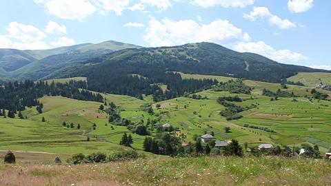 Carpathian Mountains stock footage