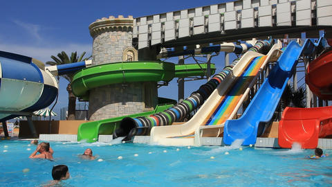 Recreation area with aquapark Footage
