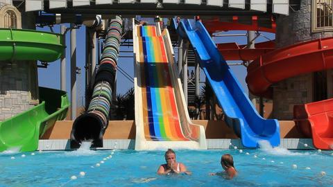 Recreation area with aquapark Footage