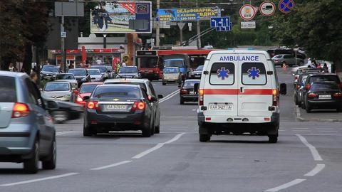 Road crossing and emergency Footage