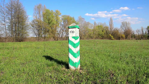 Boundary Post stock footage