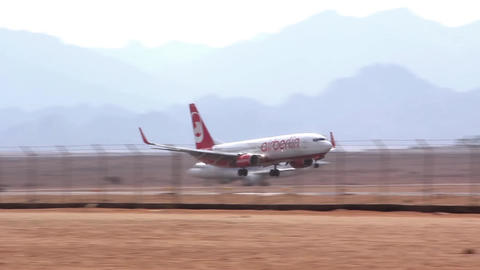 Airfield. Landing stock footage