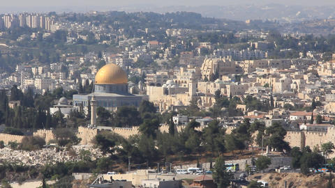The holy city, new Jerusalem, coming down from out of heaven Footage