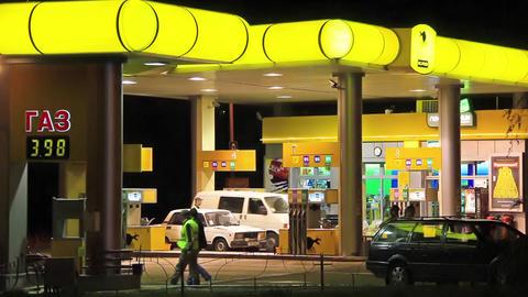 Gasoline stand Footage