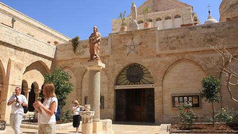 Church of the Nativity in Bethlehem, Palestinian National Authority Footage