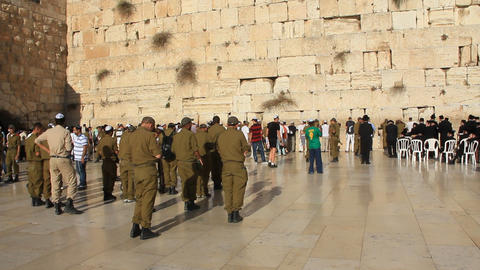 Wailing Wall. Western Wall. The Wailing Place of the Jews in Jerusalem, Israel Live Action