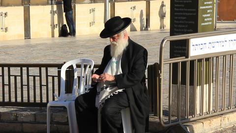 Israelite. Beggar stock footage