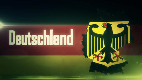 TV Opener, Country: Germany (with National Emblem) stock footage