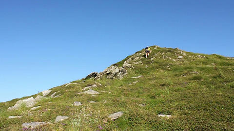 Run uphill Footage