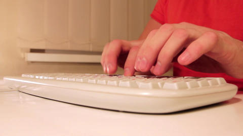 Type on keyboard Live Action
