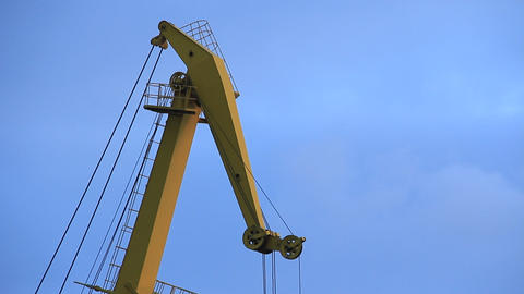 Harbour Crane stock footage
