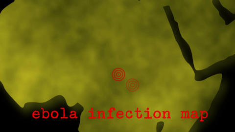 Africa Ebola Infection Map Zoom Animation