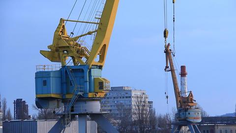 Harbour crane Live Action