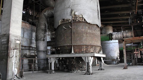 Interior of old power station Footage